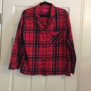 Victoria's Secret Flannel Night Shirt